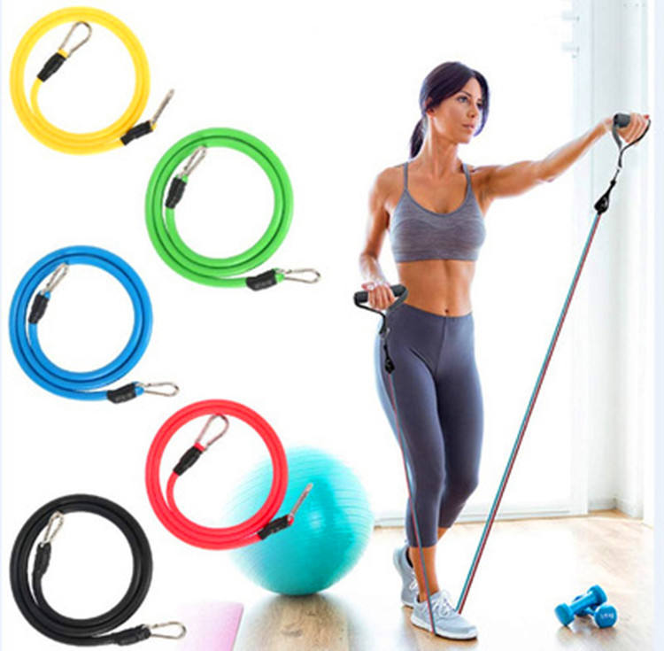 In Voorraad Hoge Kwaliteit Thuis <span class=keywords><strong>Oefening</strong></span> Tpe Buizen Fitness Set 11Pcs Resistance Bands Set