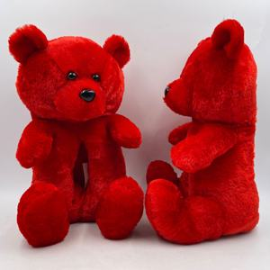 China Factory custom high quality hot sale stuffed plush toy 12 inch internal 8.5inch  Red teddy plush Bear Slippers