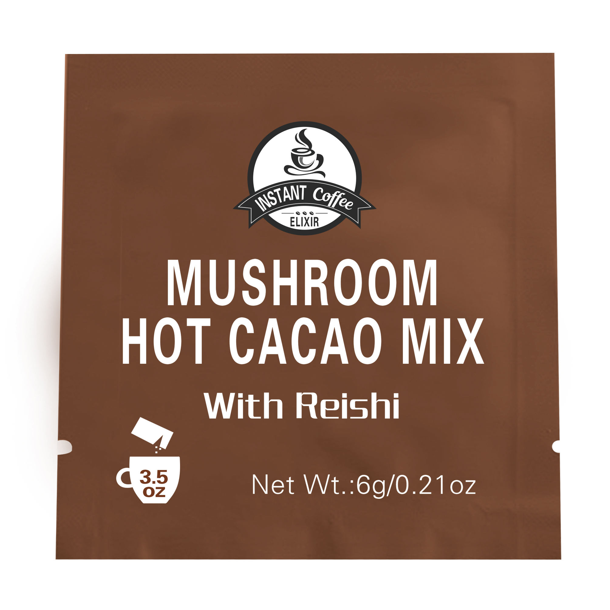 Top Quality Private Label Mushroom Hot Cacao Mix with Reishi Instant Coffee
