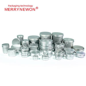 Metal Tin Can Container Manufacturer Round Shaped 10g 15g 20g 25g 30g 50g 60g 80g 100g Stored Cosmetic Aluminium Tube Tins