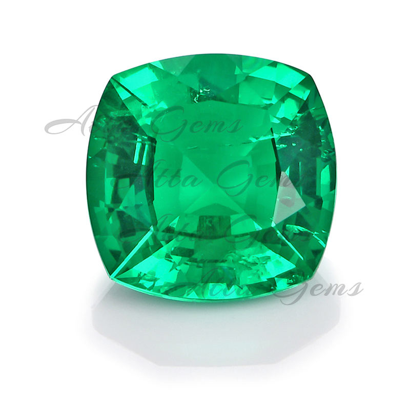 Wholesale Hydrothermal Synthetic Square Cushion Cut Lab Colombian Emerald Stones for Sale