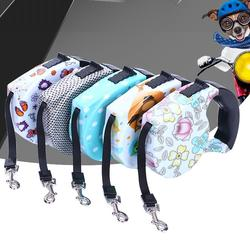 Wholesale More Design Adjustable Slip Luxury Nylon Rope Custom Print Logo Pet Retractable Dog Leash For Dog