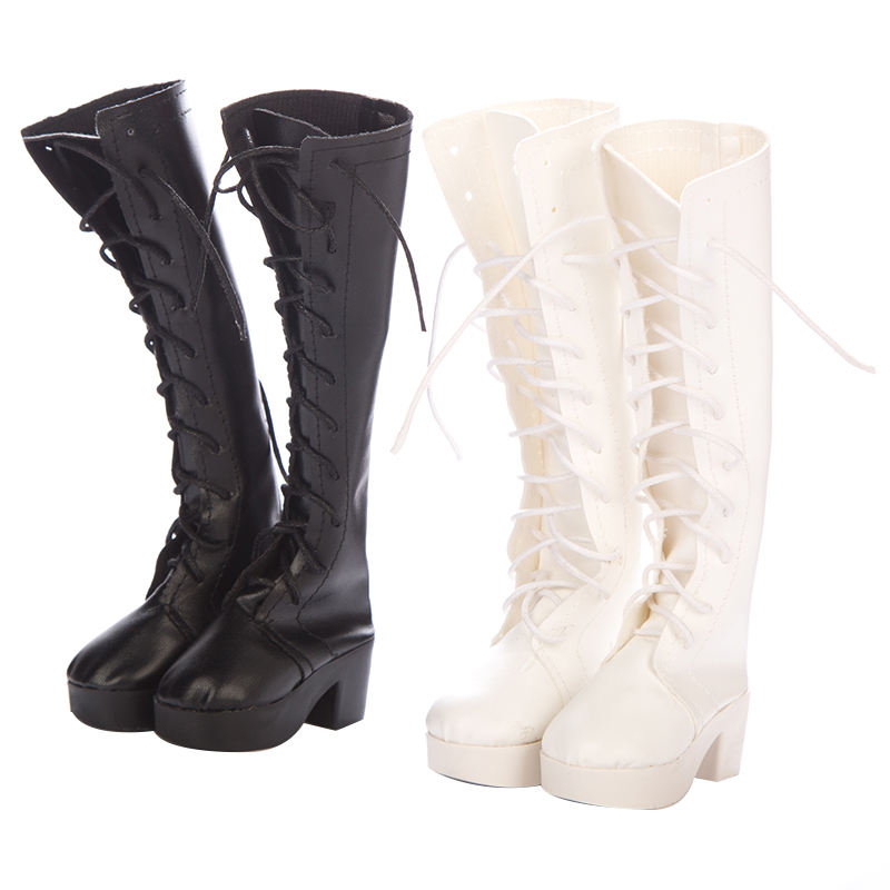 7CM Fashion Boots Hand Made High Heel Bandage PU Leather Shoes For 60cm 1/3 SD/BJD Doll Shoes Doll Accessories Toy