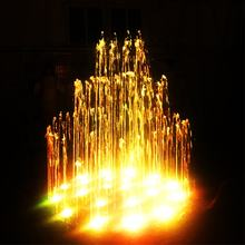 Charming outdoor garden music dancing water fountain with LED lights nozzles