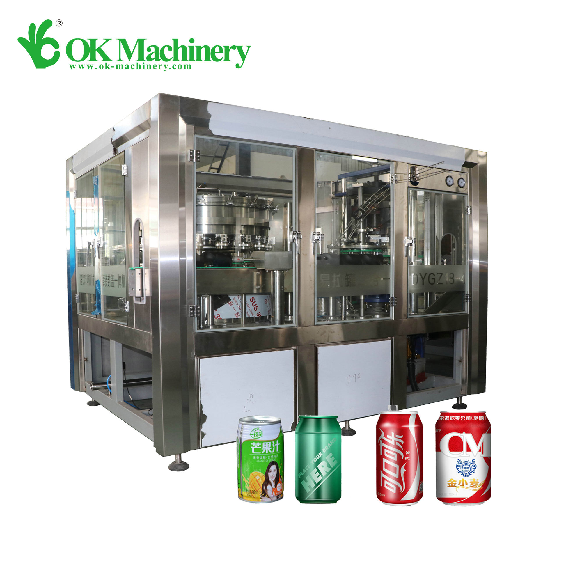 New Automatic Steel Can Alcoholic Beverage Can Filling Sealing Machine