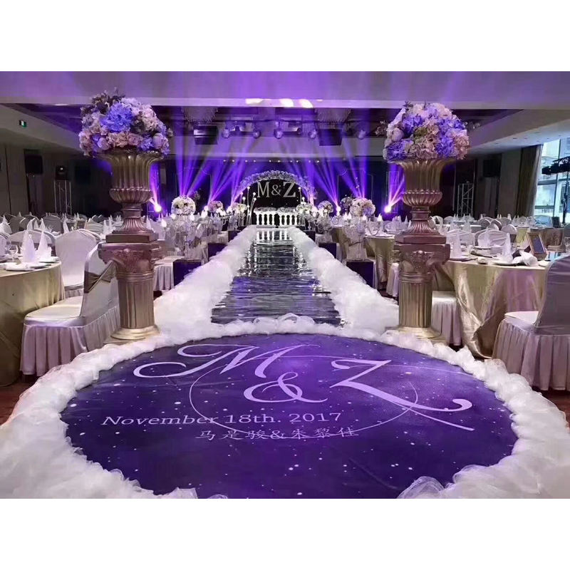 LDJ1166 White snow yarn wedding aisle decor aisle runner for stage decoration