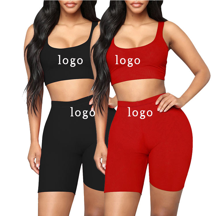 Odm Two Pieces High Waist Sport Seamless Red Yoga Pants Sets Fitness Leggings