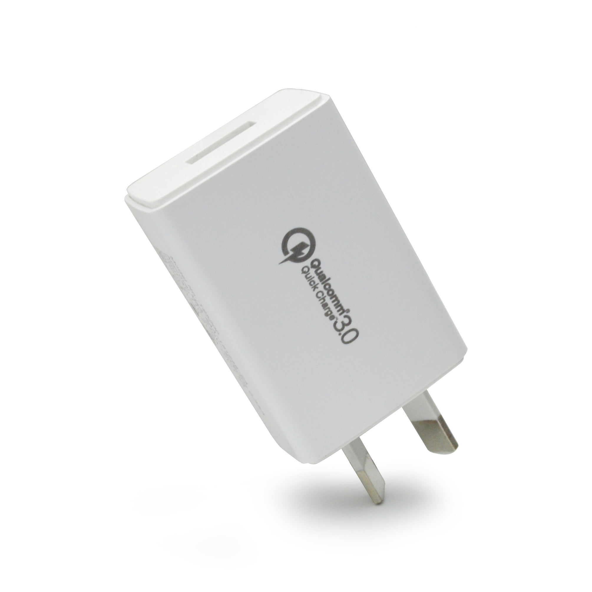 AU power plug qualcomm 3.0 quick charge 18W DC 5V 3A 9V 2A 12V 1.5A QC 3.0 USB Wall Charger SAA