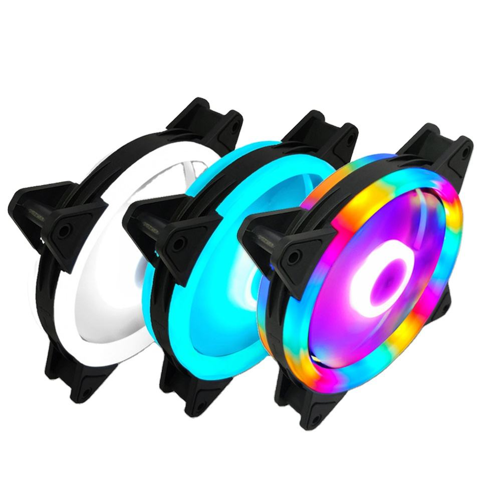 REDSTORM 120mm Computer Cooling Fan RGB PC Radiator Case Adjustable Fan LED Heatsink Colorful Cooler Fans For Computer PC