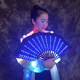 Led Hand Fan Luminous Folding Fan For Men Women DJ Night Club Party Dancing Performance Hand Held Fan dance costume dance props