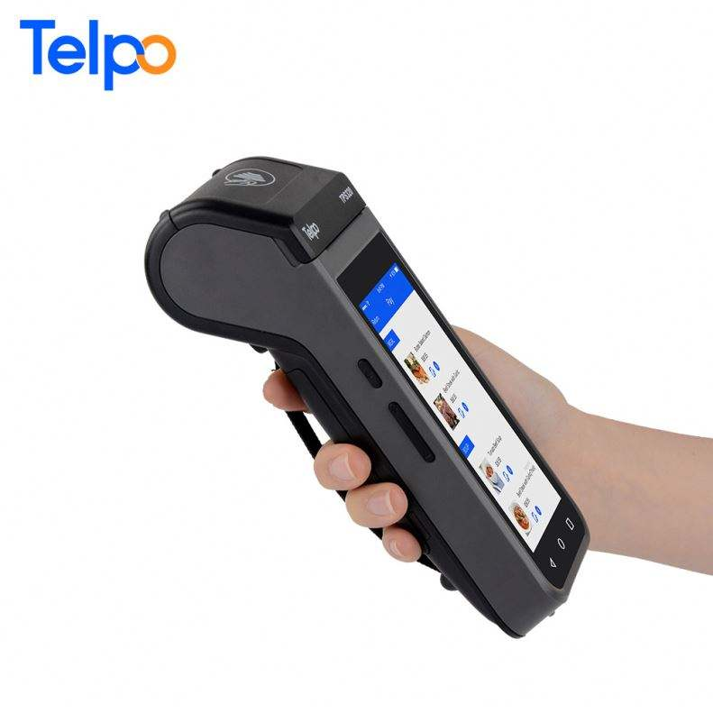 TPS320 all in one ticket handheld terminal pos machine with 40mm dia paper handheld printer