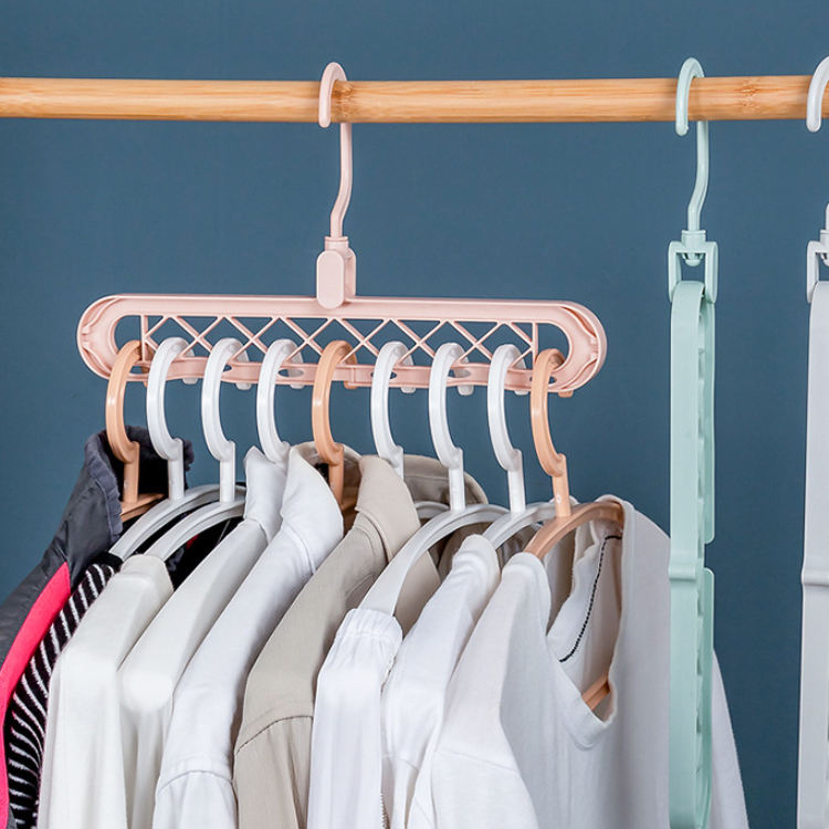 Import Hanger 360-degree Revolving Magic Hanger Multi-functional Folding Magic Hanger Wardrobe Airing Clothes Hanger