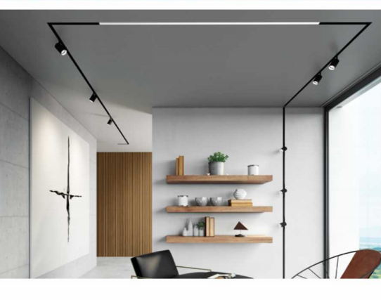 recessed surface mounted linear magnetic track Rail lighting system