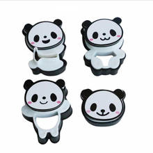 Hand Cartoon Panda Cookies Cutter Stamp Rvs Biscuit Mould Set Baking Tools Cutter Tools Cake Decoration 4pcs/set Bakeware Mold