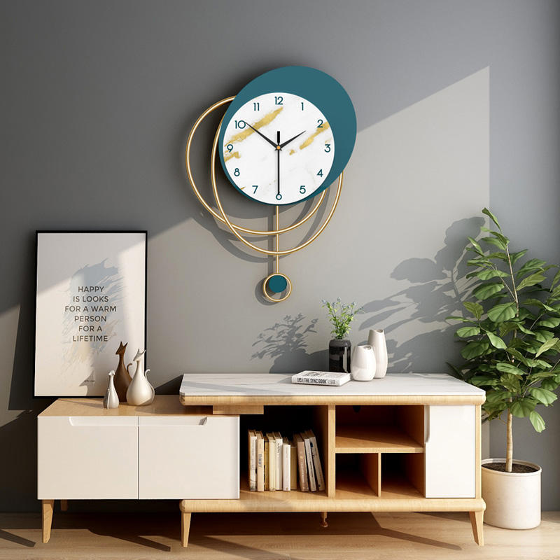 Nordic Home Decoration Accessories Popular Korean Pendulum Wall Clock For Home Gift