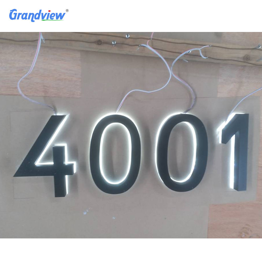 stainless steel number signage 3d led letter sign led lighting backlit sign outdoor backlit number sign