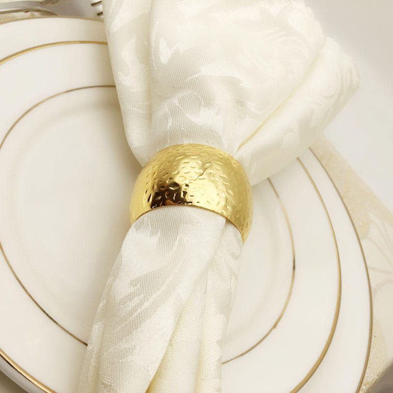 Hot sale Gold round Napkin Rings Cheap Metal Napkin Rings Holder for Wedding Table Decoration
