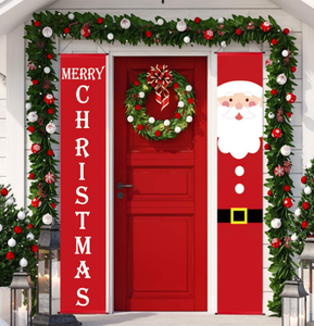 Christmas party Decorations supplies Xmas Decor Set front door Merry Christmas banner outdoor