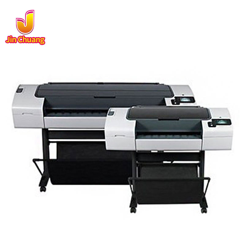 "24"" HP Inkjet T790 Small Width Plotter A1 Blueprint Printer Engineering Drawing Copier"