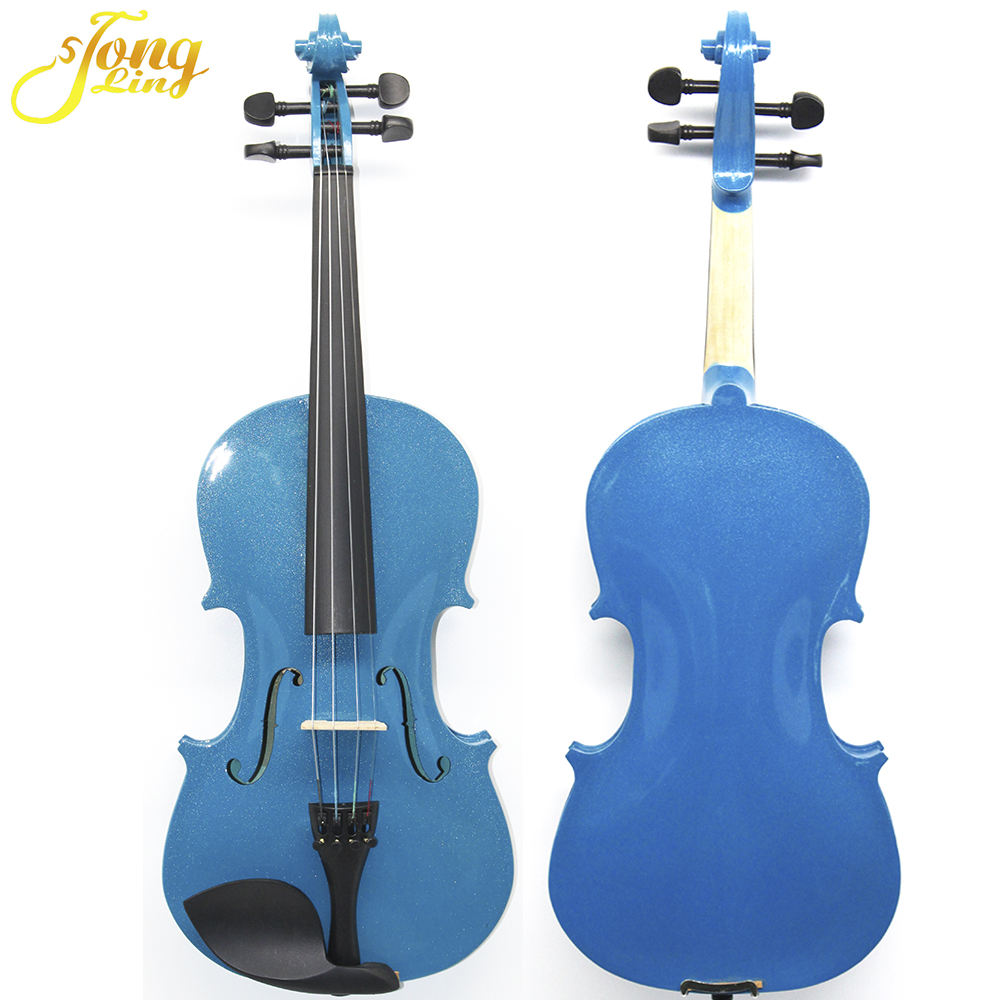 Blue Color musical instruments violin With Case Bow
