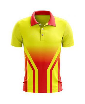 Pakistan high quality Sublimated Printing Mens New Design Sportswear Cricket Uniforms Wholesale Polo Shirt Custom Cricket Jersey