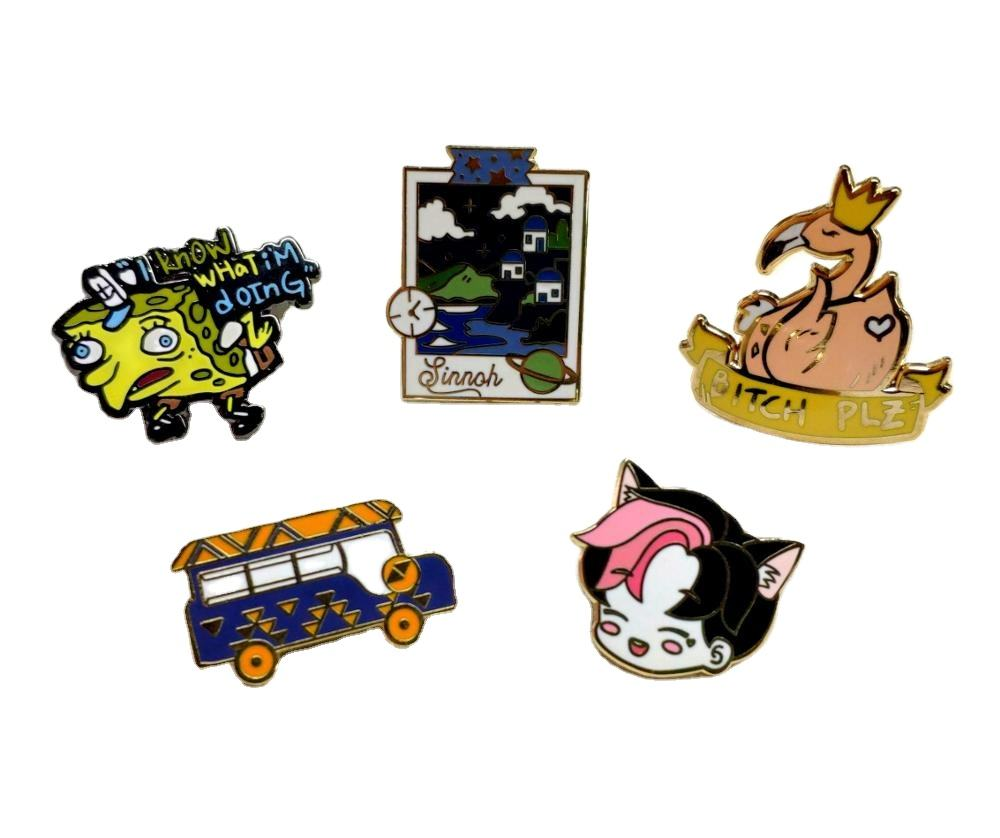 Custom Logo Hard Enamel Pin Cute Animal Metal Lapel Pin Badge Enamel Pin