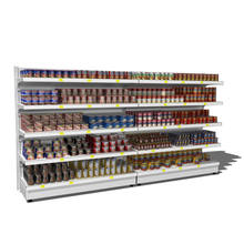 Metal Display Racks Grocery Store Gondola Shelving Supermarket Shelf for Sale
