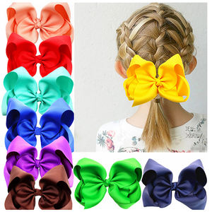 Oversize Baby Girl Large Big jojo Hair Bows For Handmade 8 inch Hair Clip