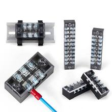 15A 3P 600V double row screw 20-16 AWG Brass conductor terminal TB1503 fixed type terminal blocks
