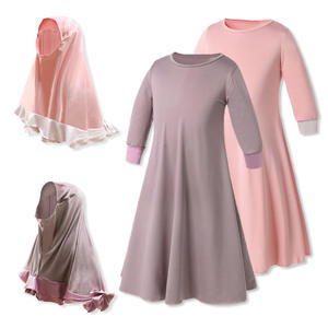 China Supplier Muslimah Clothing Wholesale Girls Muslim Clothing Dresses With Hijabs For Children