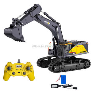 HuiNa 1592 Metal Alloy RC Excavator truck car 2.4G 1:14 22ch Rc Construction vehicle