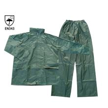 Cheap single-person rainwear for adult waterproof polyester  PVC rain coat suits