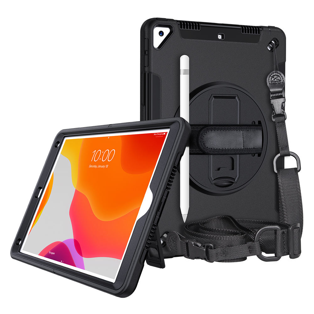 FTL series Custom Three-layer Protective Hybrid Kickstand Tablet Case For iPad 7th gen. 10.2 Cases