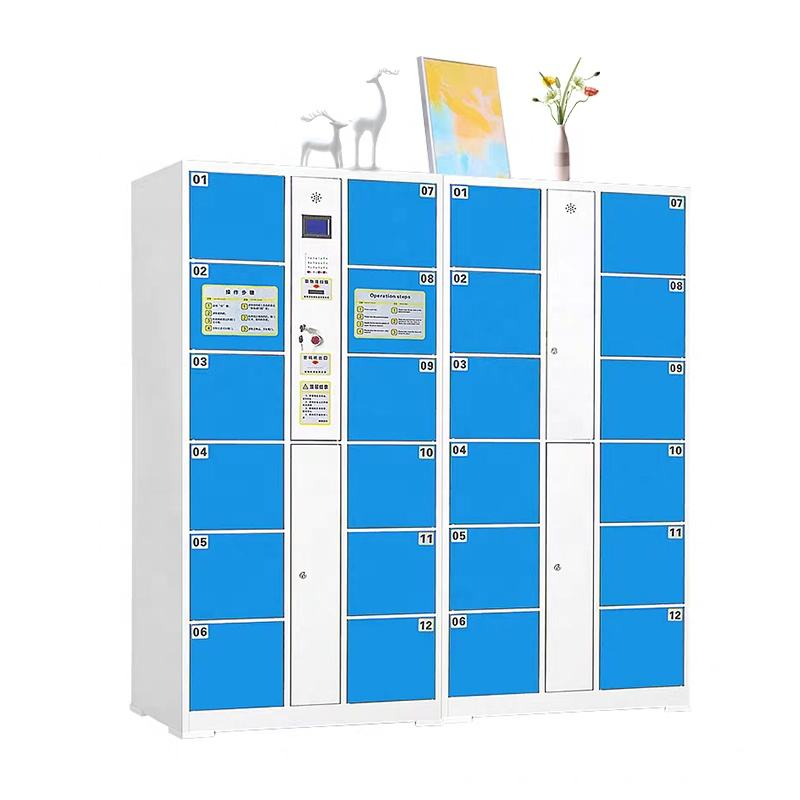 Professional Factory Card Swiping Refrigerate Electronic Safe Steel Lockers For Supermarket/ Office Staff