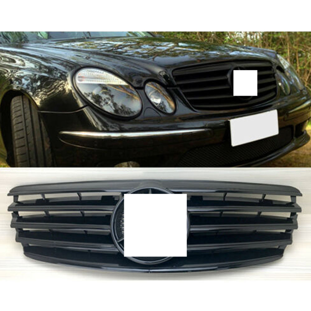 Front Hood Black Grille CL Style Grill for 07-09 Mercedes W211 E-Class Facelift