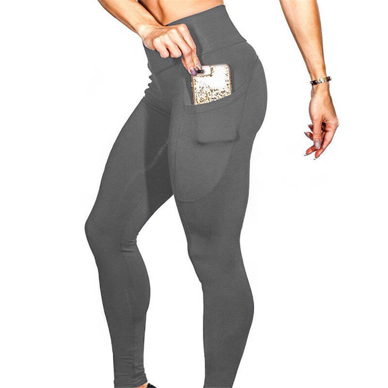 Wholesale Plus Size Clothing Gym Woman Fitness Leggings Warm Capris Leggings With Pocket