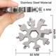Wrench Tool New Arrivals Edc Adjustable Wrench Gadget Snowflakes Multi-Tool Stainless Steel 18 In 1 Snowflake Multi Tool