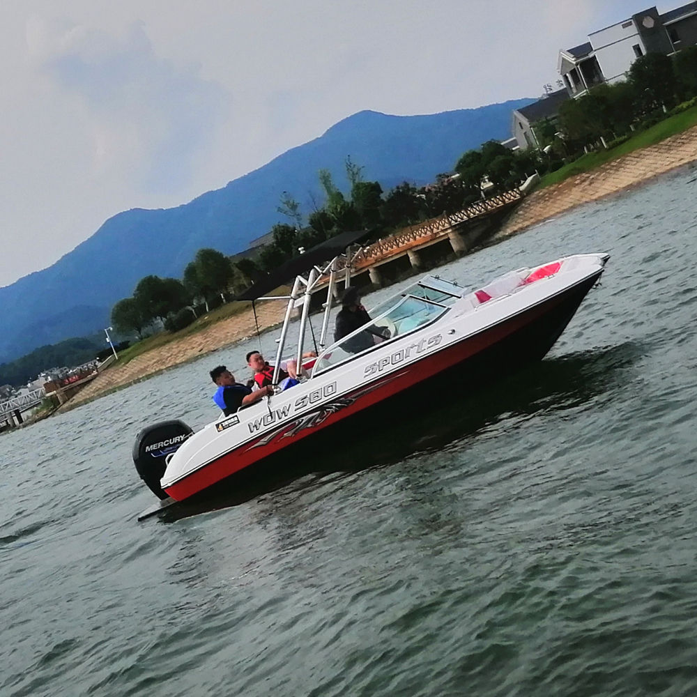 90~200hp outboard engine 5.8m speed boat with CE certificate