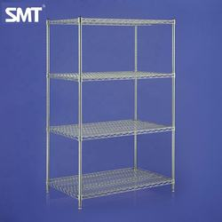 Heavy duty Cleanroom 304 Stainless Steel Wire Shelving Zig Zag Wire Shelf Rack Made in Malaysia
