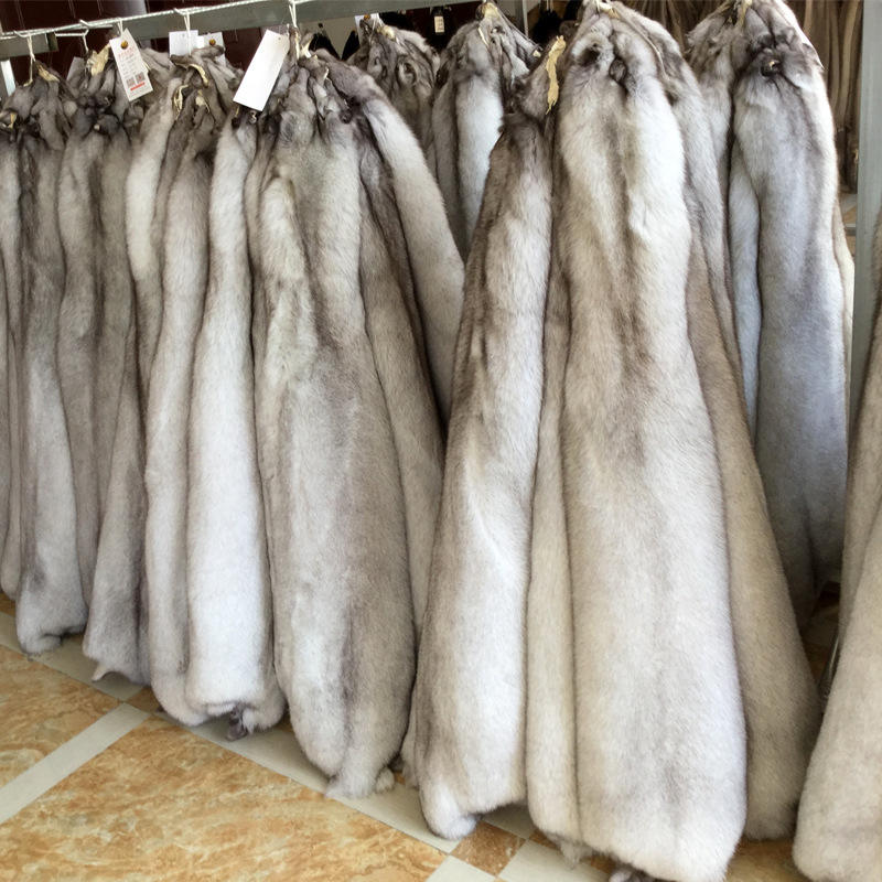 High quality natural raccoon and blue fox fur skin Pelt wholesale