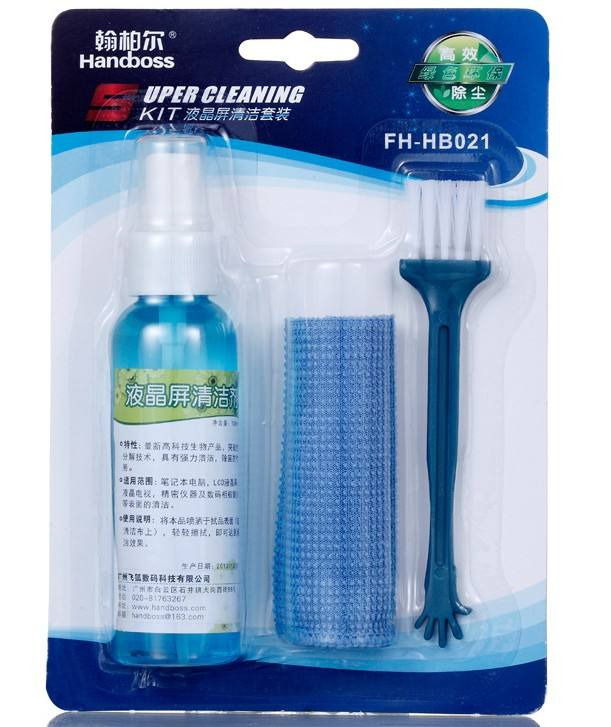 LCD Screen Cleaner Kit 3 in 1 lcd screen spray cleaner With Spray Cloth brush clean tool