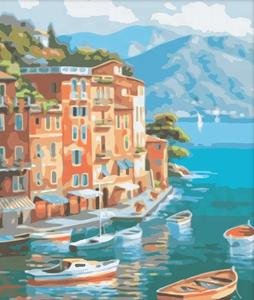 DIY Painting diy Silent Harbor by numbers kits acrylic painting unique gift home decor