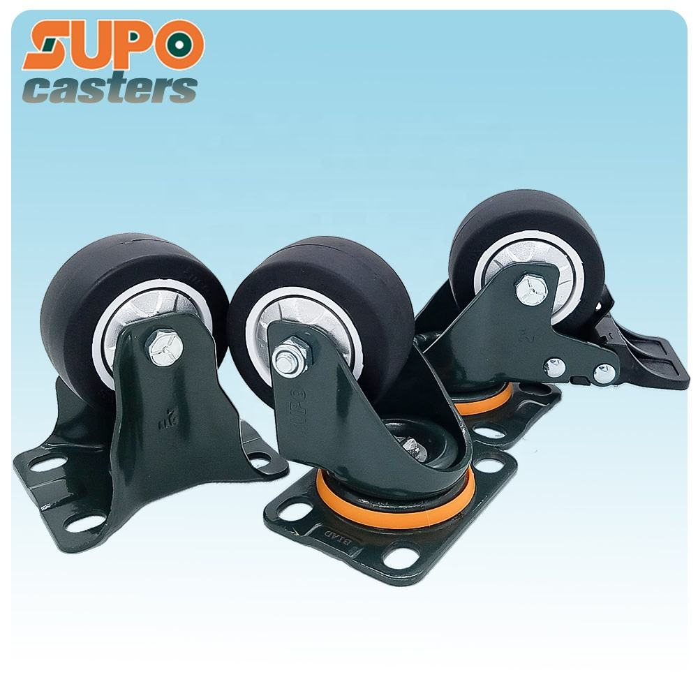 China Zhongshan high quality 1.6 inch 40mm Swivel Top Plate No brake industrial caster small caster wheels