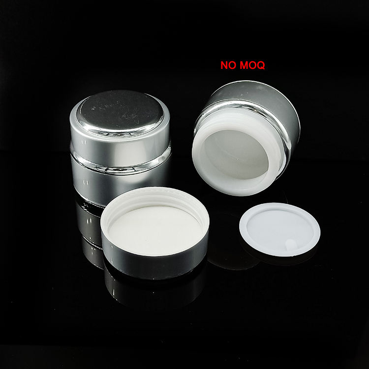 30g Skin care empty round glass cosmetic container aluminum jar