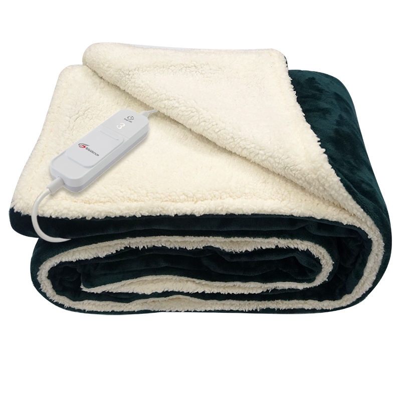 Hot Selling Full Body Warming 3 Adjustable Temperature and Machine Washable 220V Electric Blankets with Timers