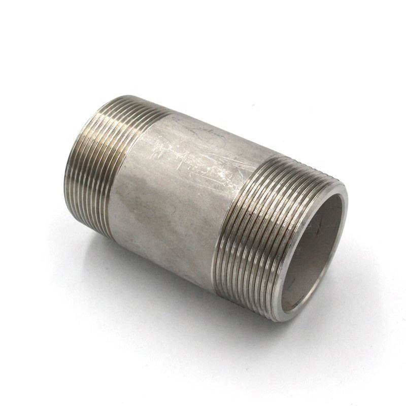 manufacturer 304 316 stainless steel pipe nipple pipe fitting plumbing materials