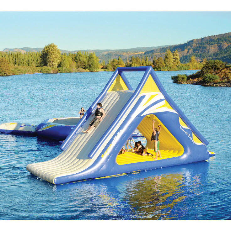 Camping beach activity lake water games sea big inflatable water slide for sale