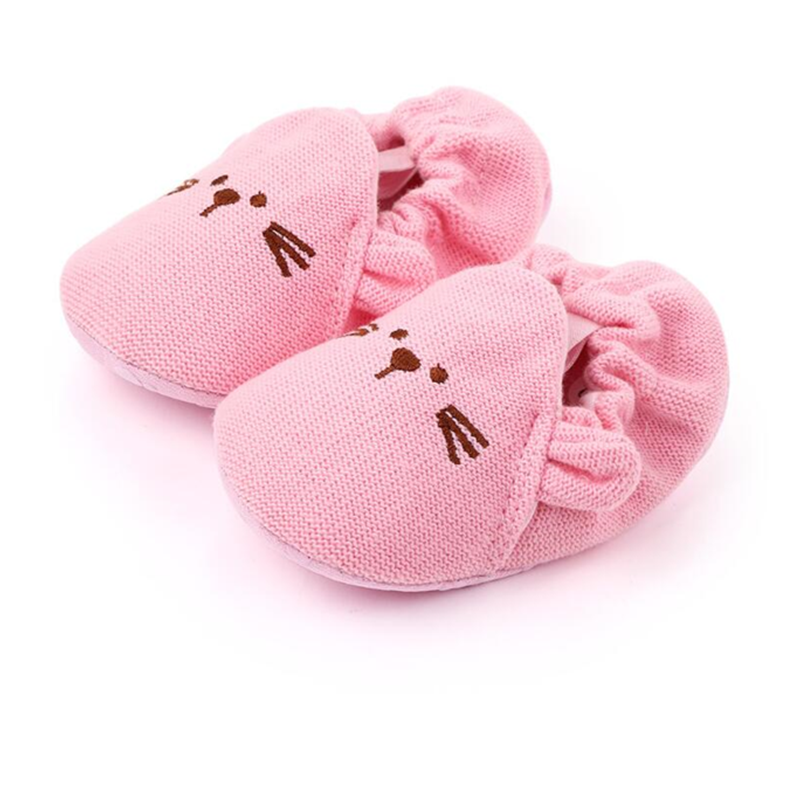 Knitted Sleeve Children Toddler Shoes, Woolen Baby Shoes, ODM & OEM Cartoon Baby Bear Toddler Shoes