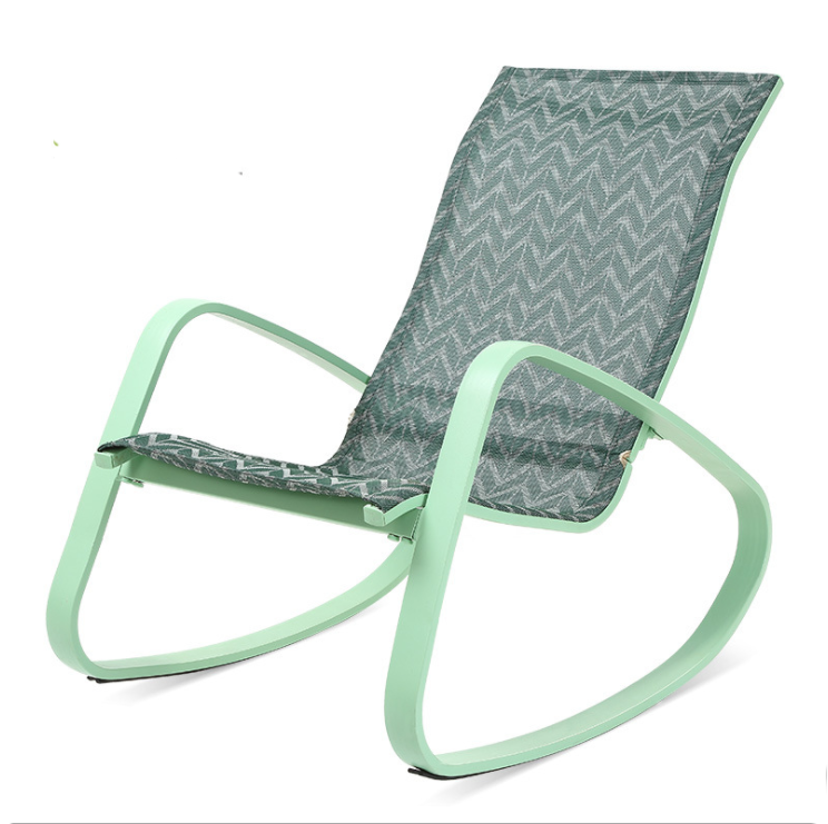 Outdoor custom livingroom leisure lounge chair comfortable floor custom zero heavy rocking chairs