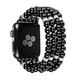 Beaded Bracelet Elastic Stretch Faux Black Pearl Watch Band For Apple Watch Band 5 4 3 2 1